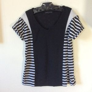 CONSIGNED SANCTUARY striped Short Sleeve Tee